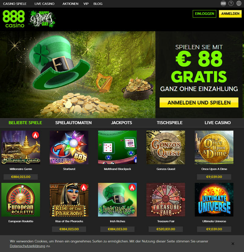 888 Casino Registrieren