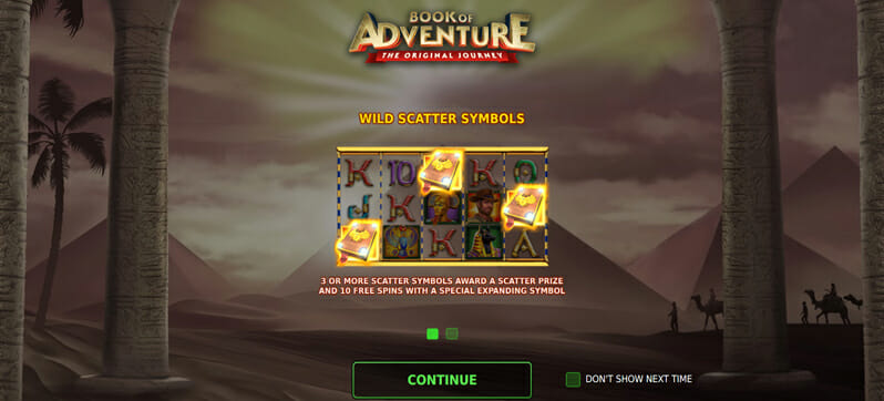 Book Of Adventure Bonus