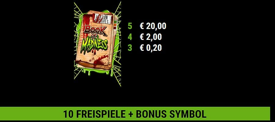 Book of Madness Slot Bonus
