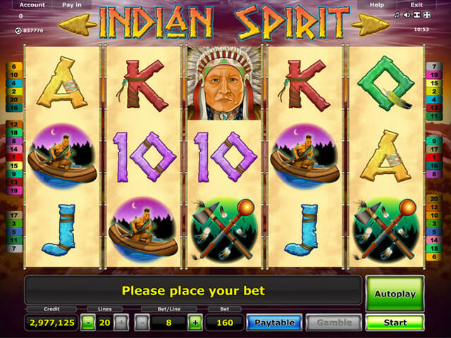 online casino euro indian spirit