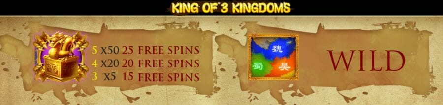 King of 3 Kingdoms Bonus