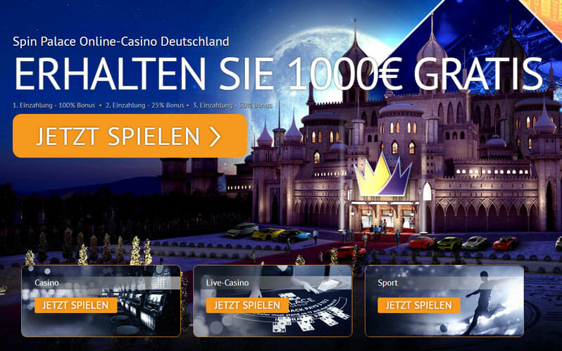 Spinpalace Casino Bonus