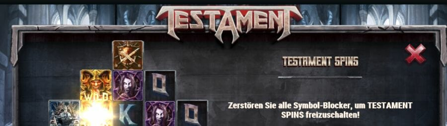 Testament Slot Bonus