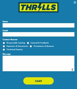 Thrills Casino Live Chat