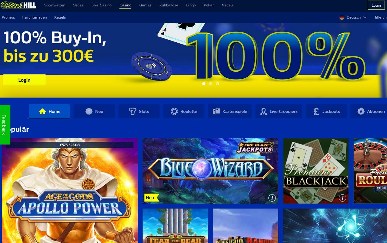 William Hill Casino Startseite