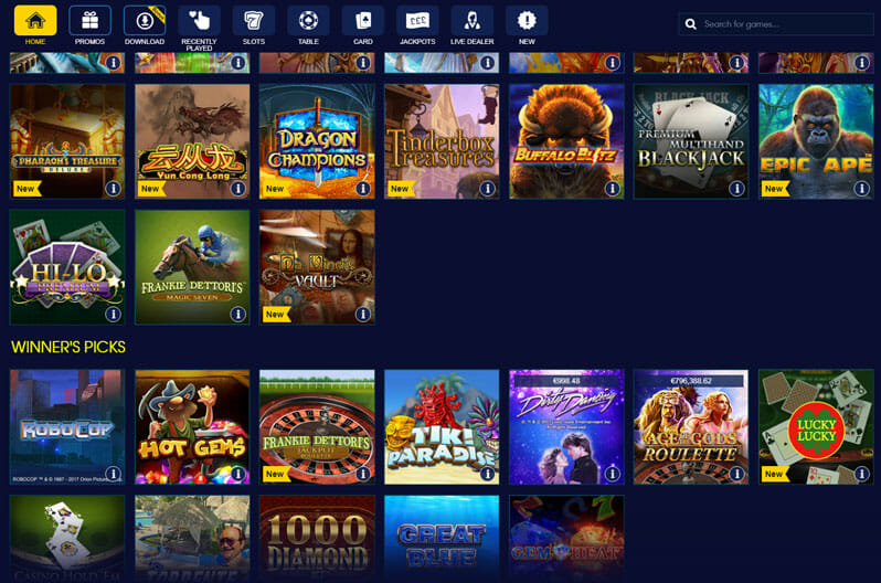 William Hill Casino Spiele