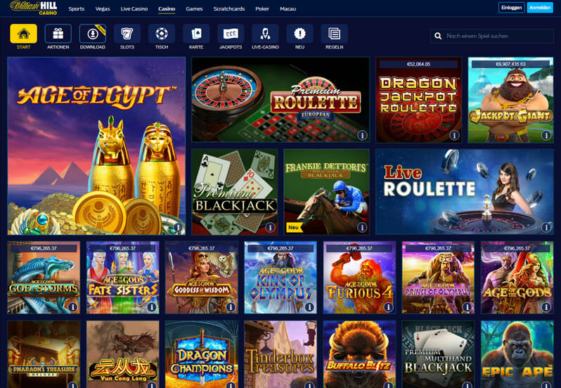 William Hill Casino Vorschau